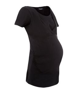 Maternity Black Nursing T-Shirt  | New Look
