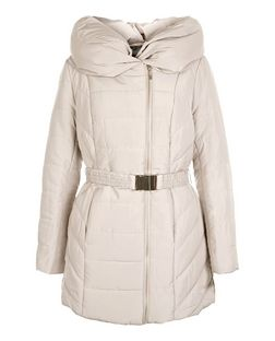 Brown Snood Padded Jacket  | New Look