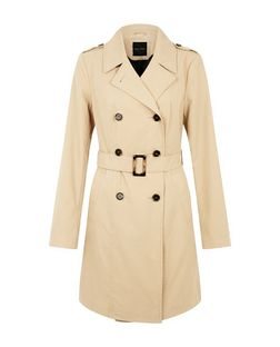 Camel Double Breasted Trench Coat  | New Look