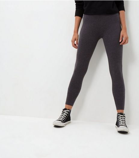 Dark Grey High Waisted Leggings  | New Look