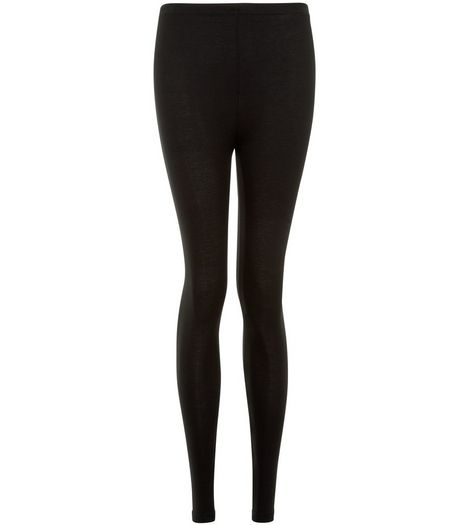 2 Pack Black Viscose Leggings  | New Look