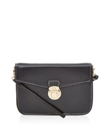 Black Mini Satchel Bag  | New Look