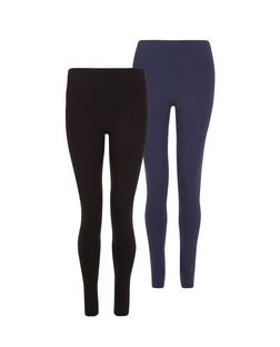 Tall 2 Pack Black and Navy Leggings | New Look