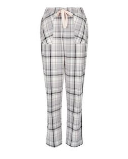 Grey Check Pocket Front Pyjama Bottoms | New Look