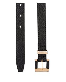 Black Square Buckle Belt  | New Look