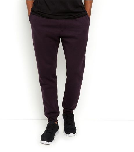 Burgundy Basic Joggers  | New Look
