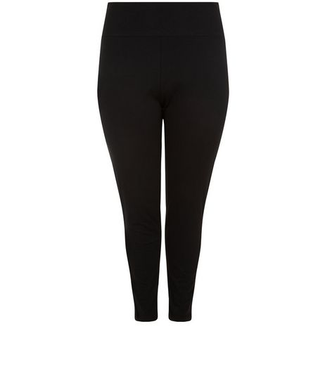 Curves Black High Waisted Leggings  | New Look