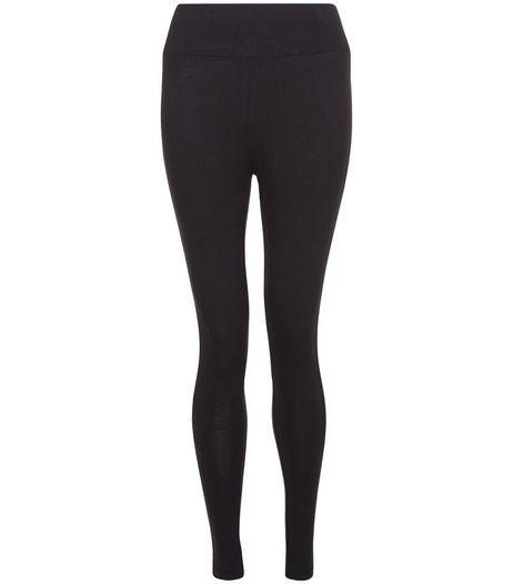 Petite Black High Waisted Leggings  | New Look