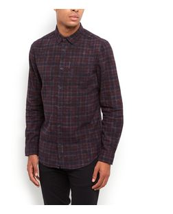 Purple Tartan Check Long Sleeve Shirt | New Look