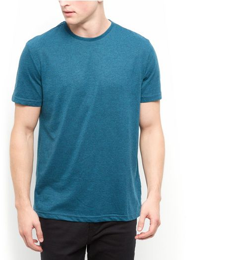 Teal Basic Crew Neck T-Shirt | New Look