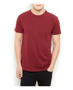 Burgundy Basic Crew Neck T-Shirt | New Look