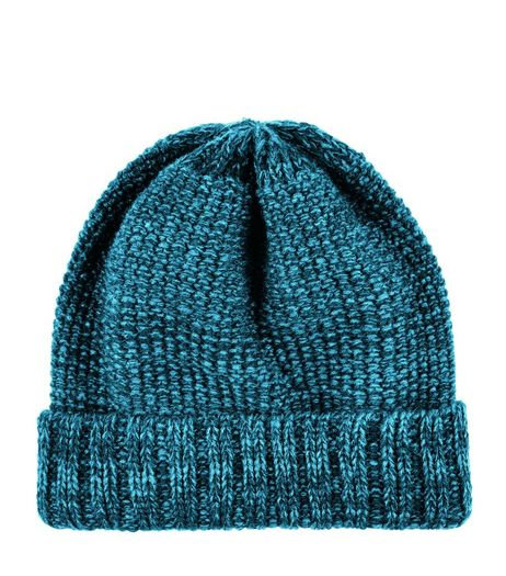 Teal Twist Knit Beanie  | New Look