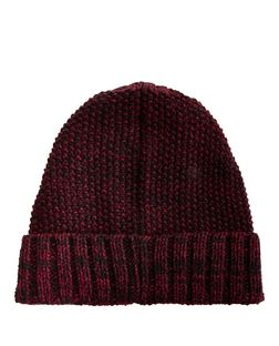 Burgundy Twist Knit Beanie  | New Look