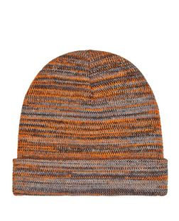 Orange Textured Knit Beanie  | New Look