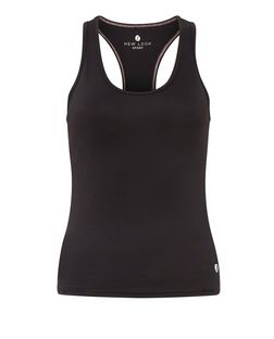 Petite Black Sports Vest  | New Look
