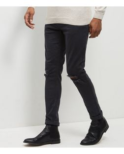 Black Ripped Knee Skinny Jeans  | New Look