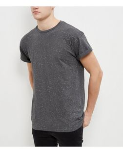 Dark Grey Spray Wash T-Shirt | New Look