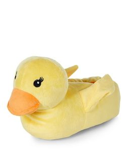 Teens Yellow Duck Slippers | New Look