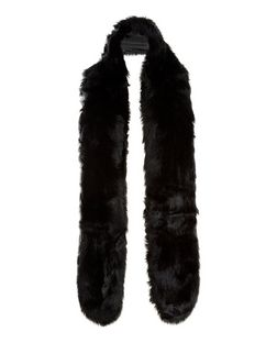Black Faux Fur Stole  | New Look