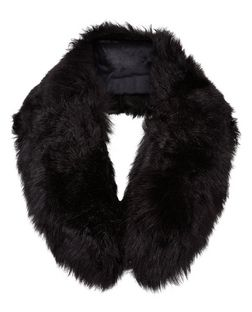 Black Faux Fur Collar  | New Look