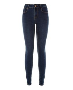 Dark Blue Super Skinny Jeans   | New Look