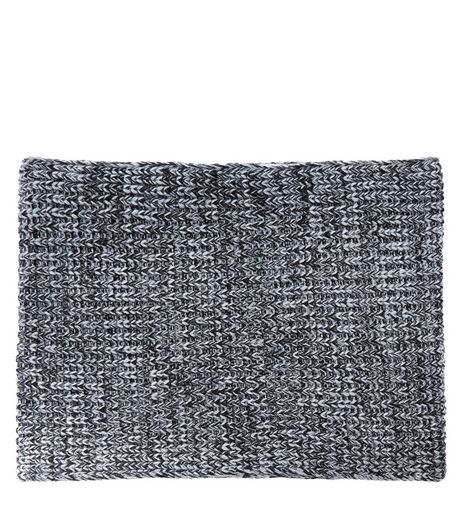 Dark Grey Knitted Ribbed Scarf | New Look
