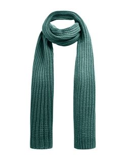 Teal Knitted Rib Scarf | New Look