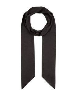 Black Long Skinny Scarf | New Look