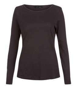 Black Long Sleeve Top | New Look