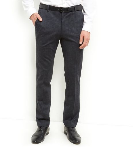 Dark Grey Jersey Slim Fit Trousers  | New Look