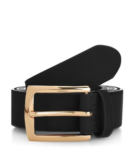 Curves Black Jeans Belt  | New Look