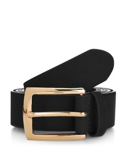 Plus Size Black Jeans Belt  | New Look
