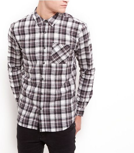 Creme Check Cotton Shirt | New Look