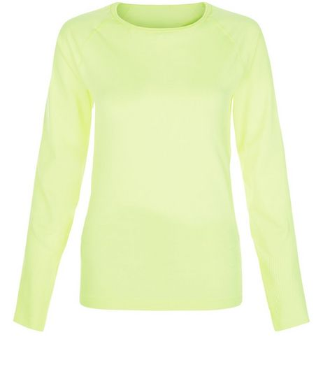 Only Yellow Long Sleeve Sports Top  | New Look
