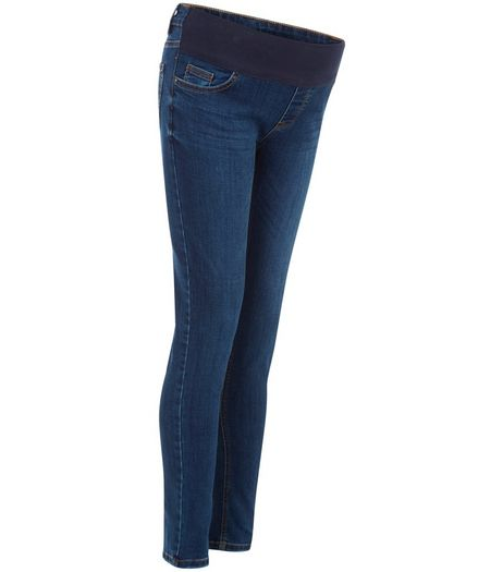 Maternity Navy Authentic Under Bump Skinny Jeans | New Look