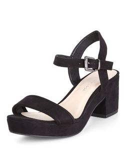 Teens Black Platform Sandals  | New Look
