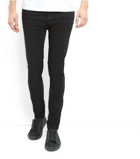 Black Stretch Super Skinny Jeans  | New Look