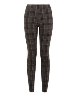 Black Check Leggings  | New Look
