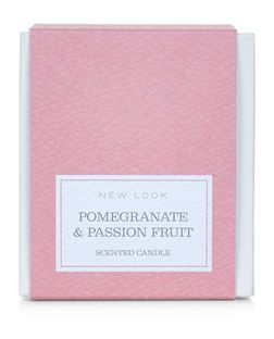 Coral Pomegranate and Passion Fruit Candle  | New Look