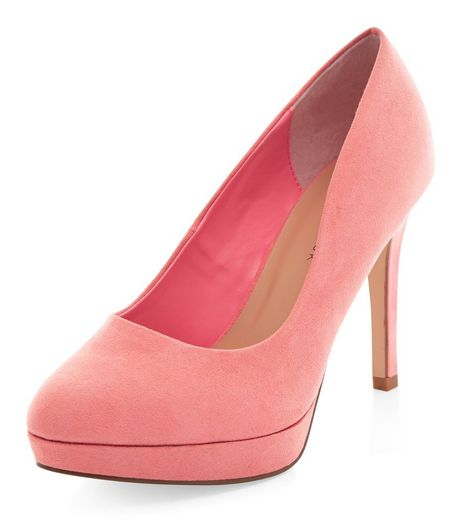 Wide Fit Coral Platform Court Shoes  | New Look
