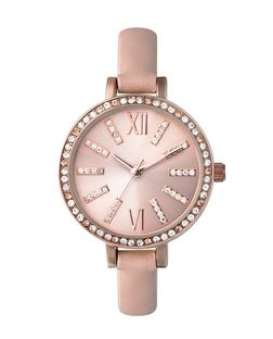 Pink Embellished Oversized Watch  | New Look