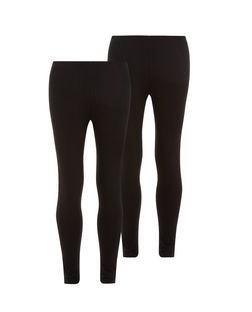 Girls 2 Pack Black Leggings  | New Look