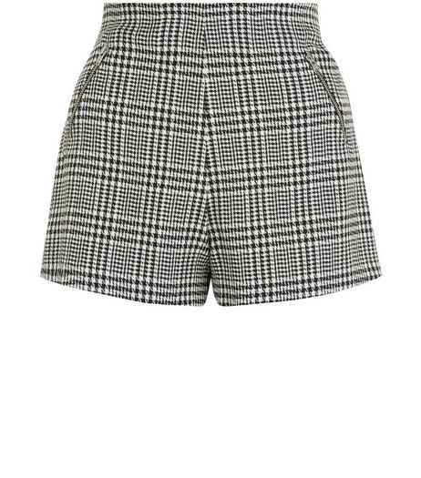 Teens Black Check High Waisted Shorts  | New Look