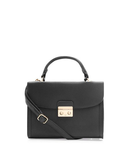 Black Leather Look Shoulder Bag | New Look