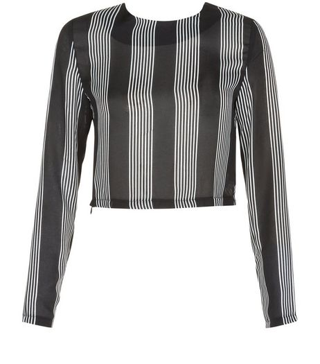 Heartbreak Black Stripe Co-ord Top | New Look