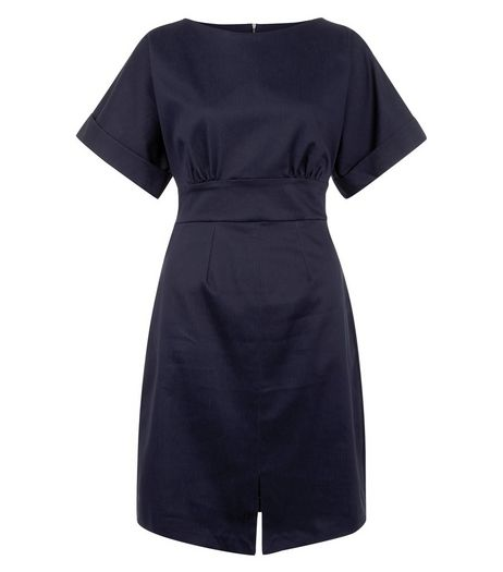Closet Navy Split Front Dress | New Look