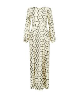 Closet Cream Abstract Print Maxi Dress | New Look