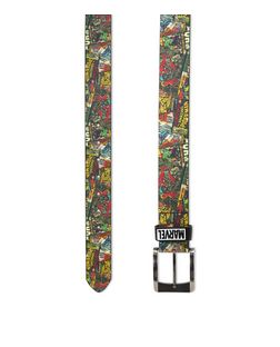 Multicoloured Marvel Comic Print Belt | New Look