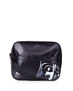 Black Star Wars Messenger Bag  | New Look