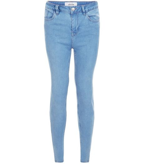Pale Blue Supersoft Super Skinny Jeans | New Look